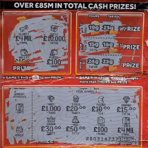 £4 MILLION RED SCRATCHCARD JACKPOT THUMBNAIL