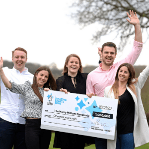 MIDWIFE WINS £1,000,000 JACKPOT PRIZE ON MERRY MILLIONS SCRATCHCARD