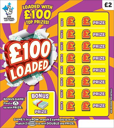 £100 loaded scratchcard