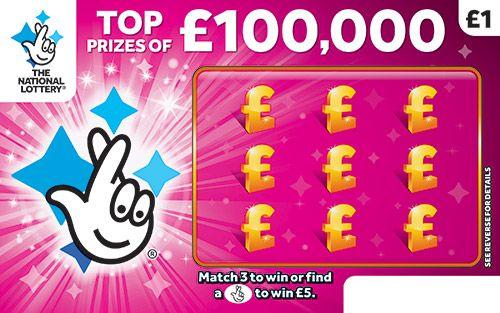 £100,000 magenta scratchcard