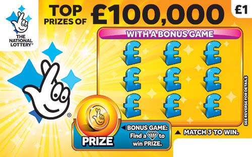 £100,000 yellow scratchcard