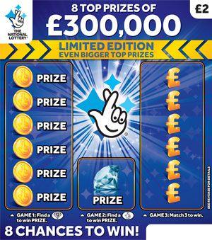£300,000 Blue Scratchcard