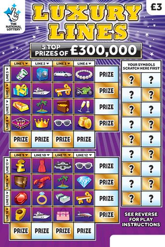 £300,000 luxury lines scratchcard