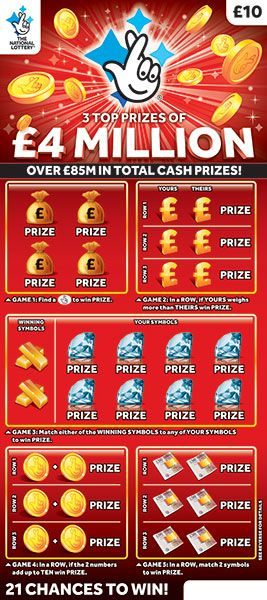 £4 million red scratchcard