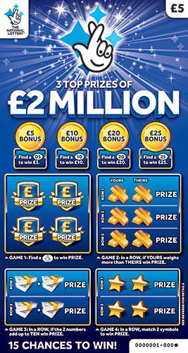 2 million blue scratchcard