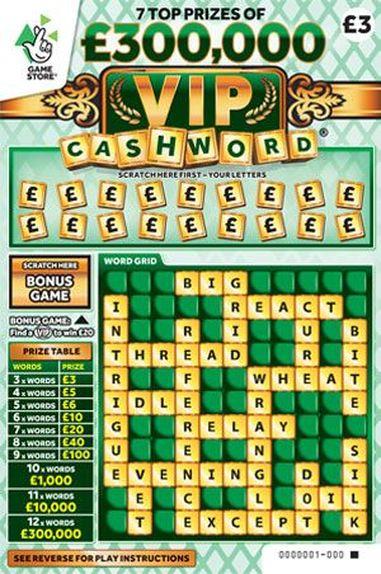 300,000 vip cashword green