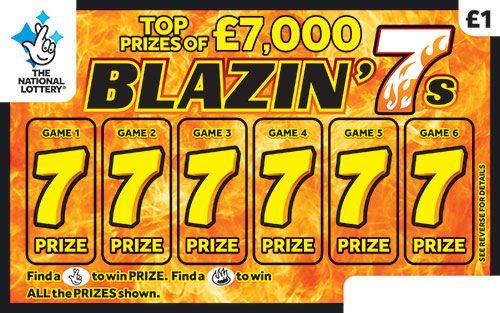 Blazin 7s scratchcard