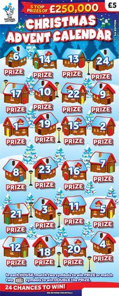 christmas advent calendar scratchcard