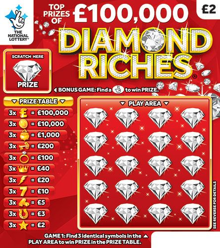 diamond riches scratchcard