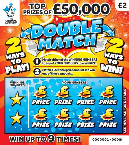 Double Match National Lottery Scratchcard February 2019