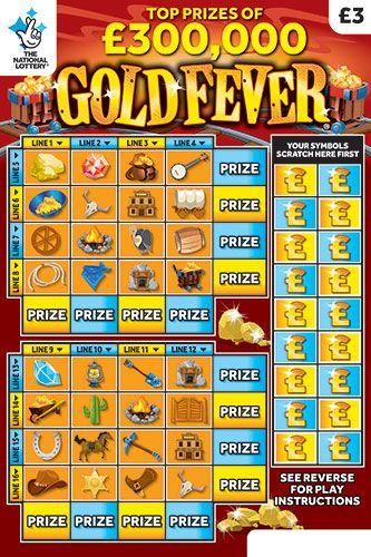 gold fever scratchcard