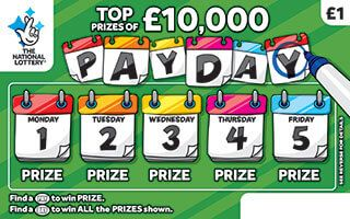 Pay Day Green Scratchcard