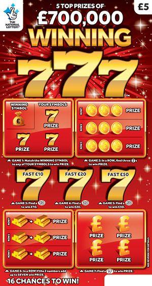 winning 777 scratchcard