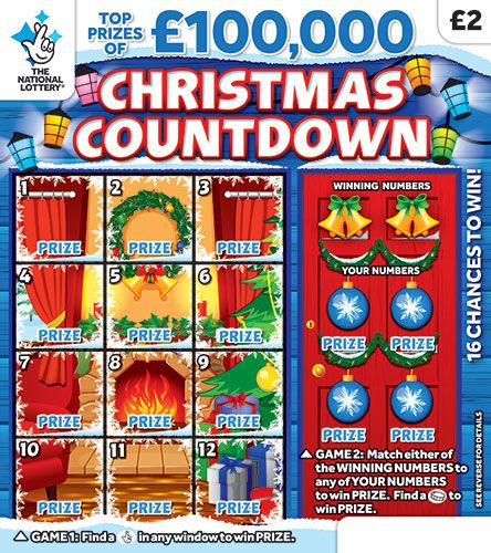 christmas countdown 2018 scratchcard
