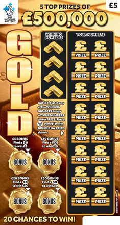 gold scratchcard