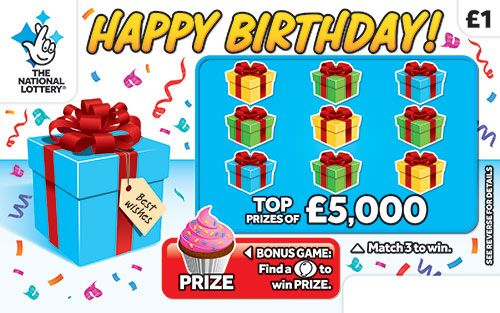 happy birthday scratchcard