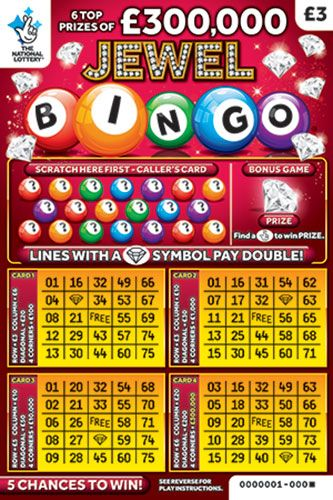 jewel bingo red scratchcard