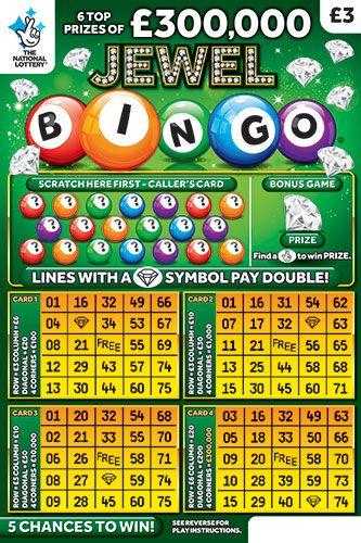 jewel bingo green scratchcard