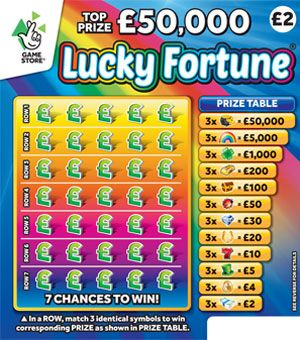 New National Lottery Scratchcards: March 2018