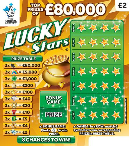 lucky stars scratchcard