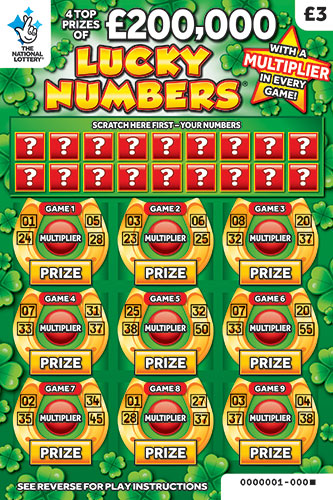 lucky numbers 2019 scratchcard