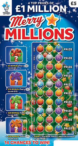 merry millions 2019 scratchcard