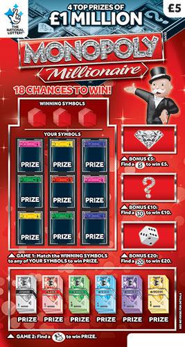 monopoly millionaire 2019 scratchcard
