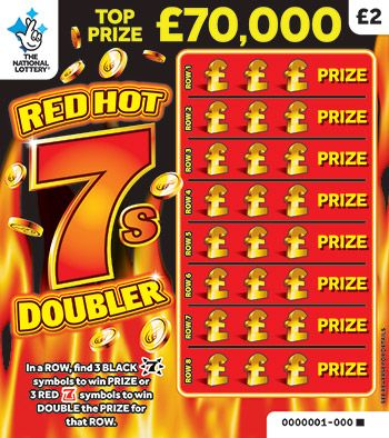 red hot 7s doubler scratchcard