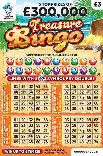 treasure bingo scratchcard