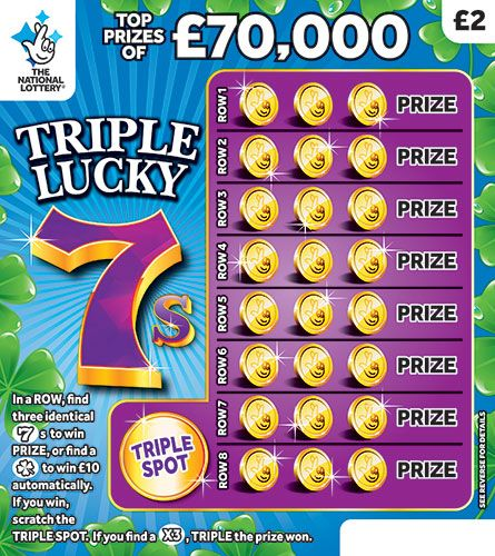 triple lucky 7s scratchcard