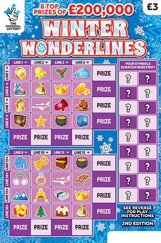 winter wonderlines 2019 scratchcard