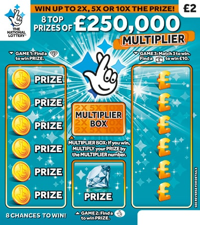 £250,000 multiplier scratchcard