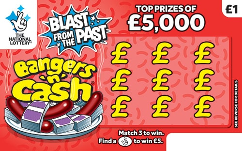 bangers and cash scratchcard