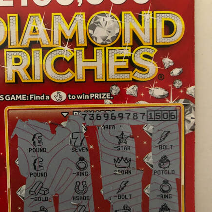 diamond riches scratched scratchcard