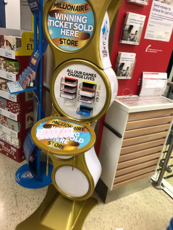 national lottery gold stand