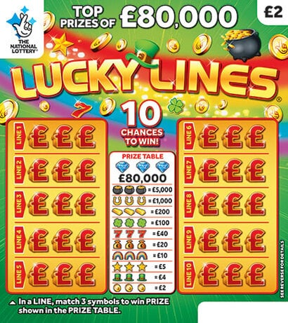 lucky lines scratchcard