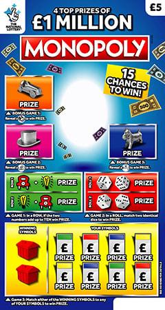monopoly plain scratchcard