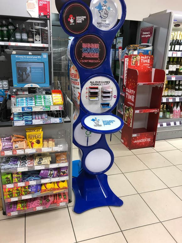 national lottery player stand