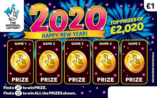 new year 2020 scratchcard