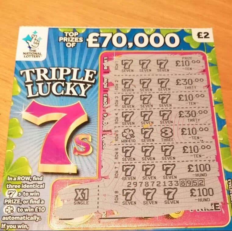 triple lucky 7s scratchcard winner