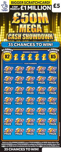 £50 million mega cash showdown scratchcard