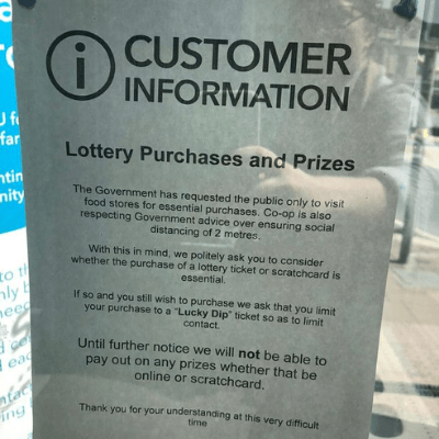 Where can you buy (and cash) scratchcards during lockdown?