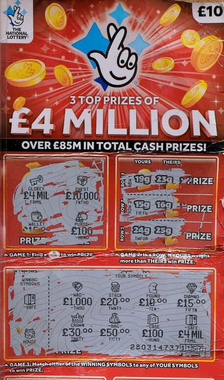 £4 million scratchcard jackpot winner
