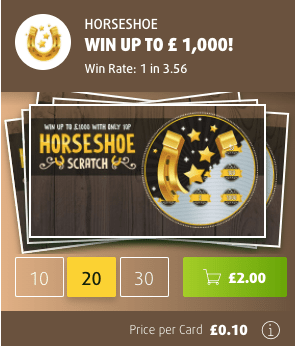 Lottoland 10p scratchcard screenshot