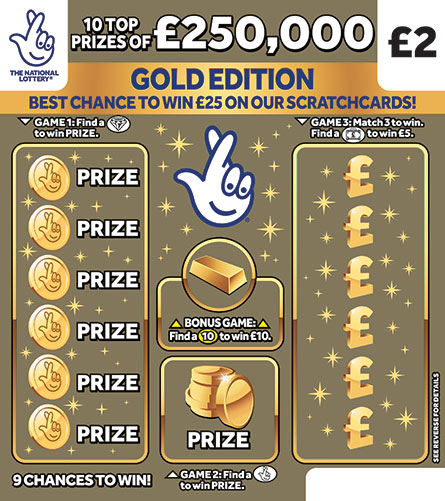 £250,000 gold scratchcard