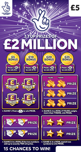 2 million purple scratchcard