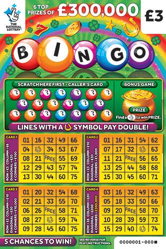 bingo green scratchcard