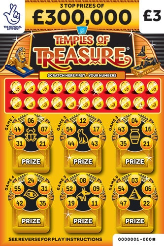 temples of treasure scratchcard