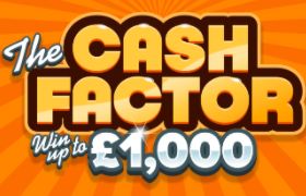 Cash Factor £1,000 Scratchcard