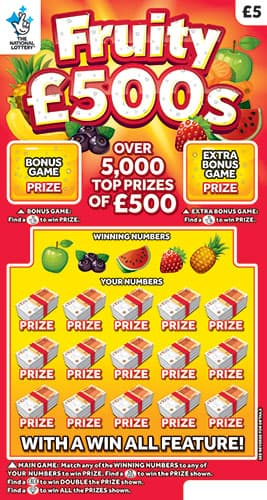 fruity £500s scratchcard